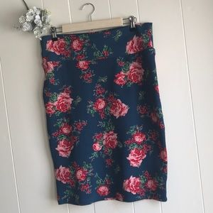 Floral Stretchy Pencil Skirt